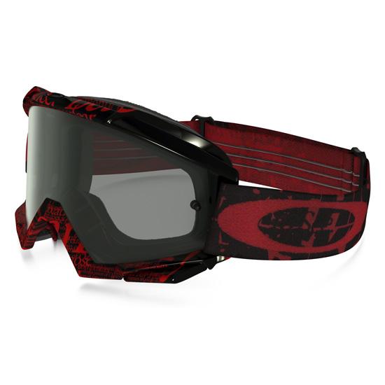 Oakley Proven Goggles Red Tagline Mtb Addiction